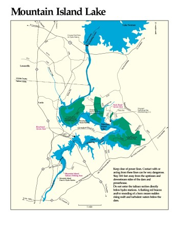 Mountain Island Lake map